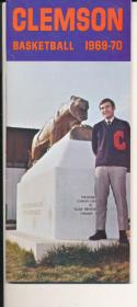 1969 - 1970 Clemson Basketball press Media guide - bx69