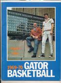 1969 - 1970 Florida University Basketball press Media guide bx69