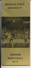 1969 - 1970 Wichita State  Basketball press Media guide bx69