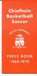 1969 - 1970 Seattle university Basketball press Media guide - bx69