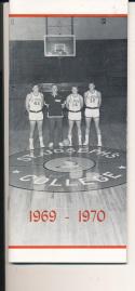 1969 - 1970 St. Joseph Basketball press Media guide - bx69