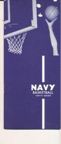 1969 - 1970 Navy University Basketball press Media guide - bx69