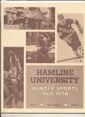 1969 - 1970 Hamline University Basketball hockey press Media guide bx69