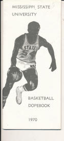 1969 - 1970 Mississippi State Basketball press Media guide - bx69