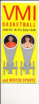 1969 - 1970 VMI University Basketball press Media guide bx69