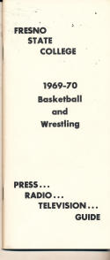 1969 - 1970 Fresno State Basketball press Media guide - bx69