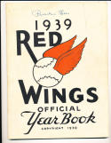 1939 Signed Rochester Red Wings Yearbook Billy Southworth