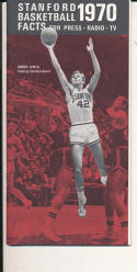 1969 - 1970 Stanford Basketball press Media guide - bx69