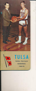 1969 - 1970 Tulsa Basketball press Media guide - bx69