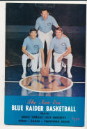 1969 - 1970 Middle Tennessee State Basketball press Media guide - bx69