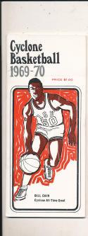 1969 - 70 Iowa State Basketball press Media guide bill cain