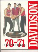 1970 - 1971 Davidson University Basketball press Media guide bx69