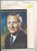 1970 - 1971 West Viriginia University Basketball press Media guide bx70