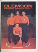 1970 - 1971 Clemson University Basketball press Media guide bx70