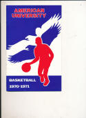 1970 - 1971 American University Basketball press Media guide bx70