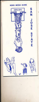 1970 - 1971 San Jose State University Basketball press Media guide  bx71