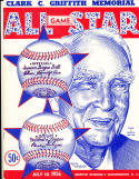 1956 All Star Baseball Game Program Scored   bx cp1