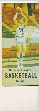 1970 - 1971 Abiline Christian College Basketball press Media guide bx70