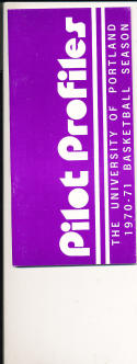 1970 - 1971 Portland University Basketball press Media guide bx70