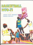 1970 - 1971 Murray State University Basketball press Media guide bx70