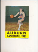 1970 - 1971 Auburn University Basketball Hockey press Media guide bx70
