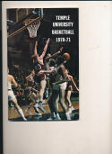 1970 - 1971 Temple University Basketball press Media guide bx69