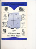 1970 - 1971 WAC spring sports Record Basketball press Media guide bx70