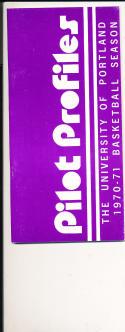 1970 - 1971 Portland University Basketball press Media guide bx70