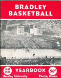 1952 Bradley Basketball Yearbook peoria, Illinois