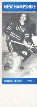 1970 - 1971 New Hampshire University Basketball Hockey press Media guide bx70