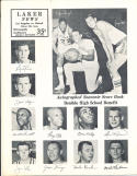 11/11 1963 Jerry West Lakers vs Detroit  basketball program