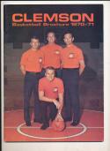 1970 - 1971 Clemson University Basketball press Media guide bx70
