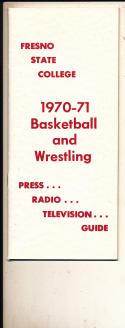 1970 - 1971 Fresno state University Basketball Wrestling press Media guide bx70