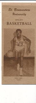 1970 - 1971 St. Bonaventure University Basketball press Media guide bx70
