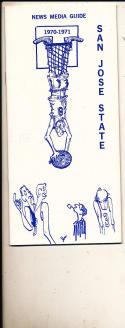 1970 - 1971 San Jose State University Basketball press Media guide  bx71