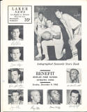 12/9 1962 Jerry West Lakers vs Syracuse  basketball program
