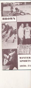 1970 - 1971 Brown University Basketball Hockey press Media guide bx70
