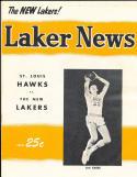 1957 Lakers vs St. Louis Hawks scored Basketball Program Jim Krebs