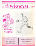 2/10 1962 Warriors vs Celtics, Knicks vs Packers basketball program