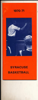 1970 - 1971 Syracuse University Basketball press Media guide bx70