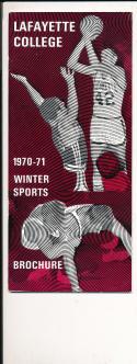 1970 - 1971 Lafayette University Basketball press Media guide bx70