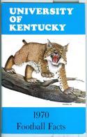 Football Media Guide 1970 -1971 University of Kentucky nm -Box20