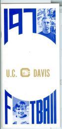 Football Media Guide 1970 -1971 UC Davis University nm -Box20