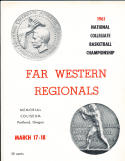 1961 NCAA Far Western Regional Basketball Championship program ASU USC
