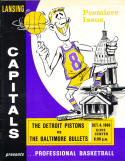 1966 10/4 Detroit Pistons vs Baltimore Bullets played in Lansing