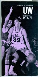 1970 - 71 University of Washington basketball media guide em -bx70