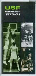 1970 - 71 University of San Francisco USF basketball media guide nm -bx70