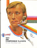 1974  ABA championship Program Utah Stars vs New York Nets