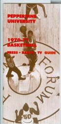 1970 - 71 Pepperdine University basketball media guide nm bx70