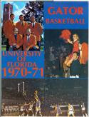 1970 - 71 University of Florida basketball media guide nm -bx70